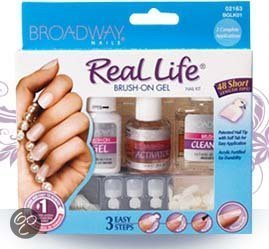 Broadway Nails Real Life Brush On Kit Gelnagels