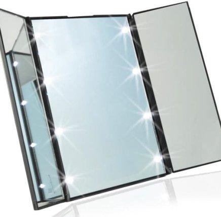 Draagbare LED Make-up Spiegel met verlichting! - 8 Led lichtjes - Voordeligste keus