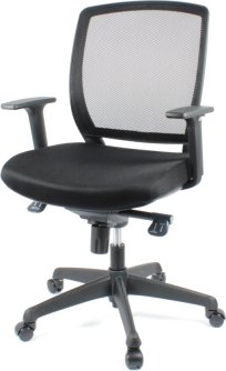 BenS 820D. Ergonomisch gevormde bureaustoel, instelbaar mechaniek.