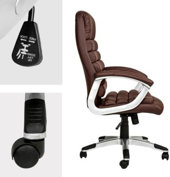 TecTake - bureaustoel - burostoel - model Paul - bruin - 402150