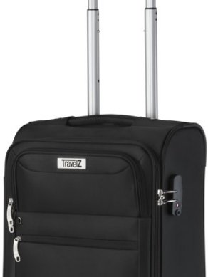Travelz Softspinner Handbagage koffer - 55 cm volledig gevoerde reiskoffer - Zwart