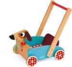 Loopwagen hout hond