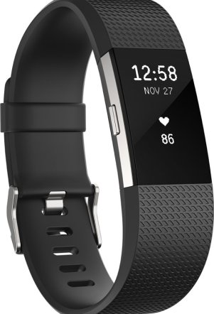 Fitbit Charge 2 activity tracker - Zwart - small