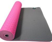 Sportbay Eco Deluxe - Fitnessmat / Yogamat - 183 x 61 cm - Roze/Grijs