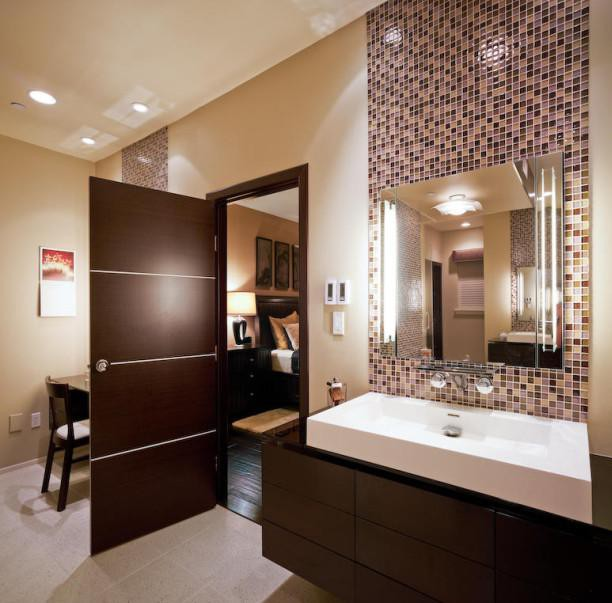 Brown And Gold Bathroom Accessories