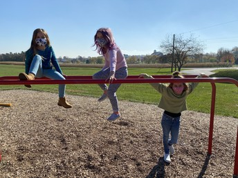 Second graders hanging around!