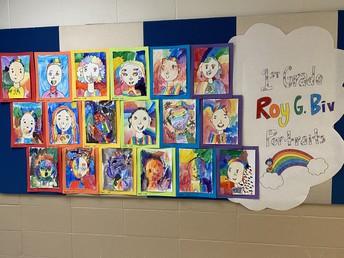 Beautiful 1st Grade Artwork!