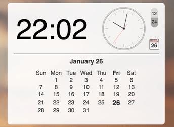 De klok widget