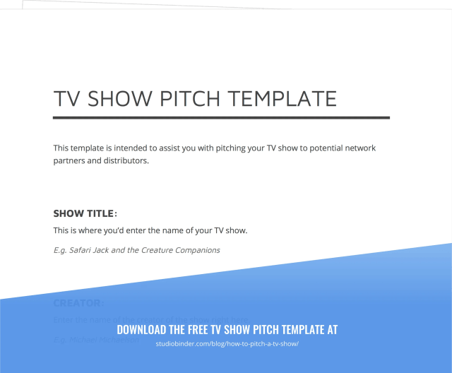 How to Pitch a TV Show Like a Pro [Free Pitch Template]