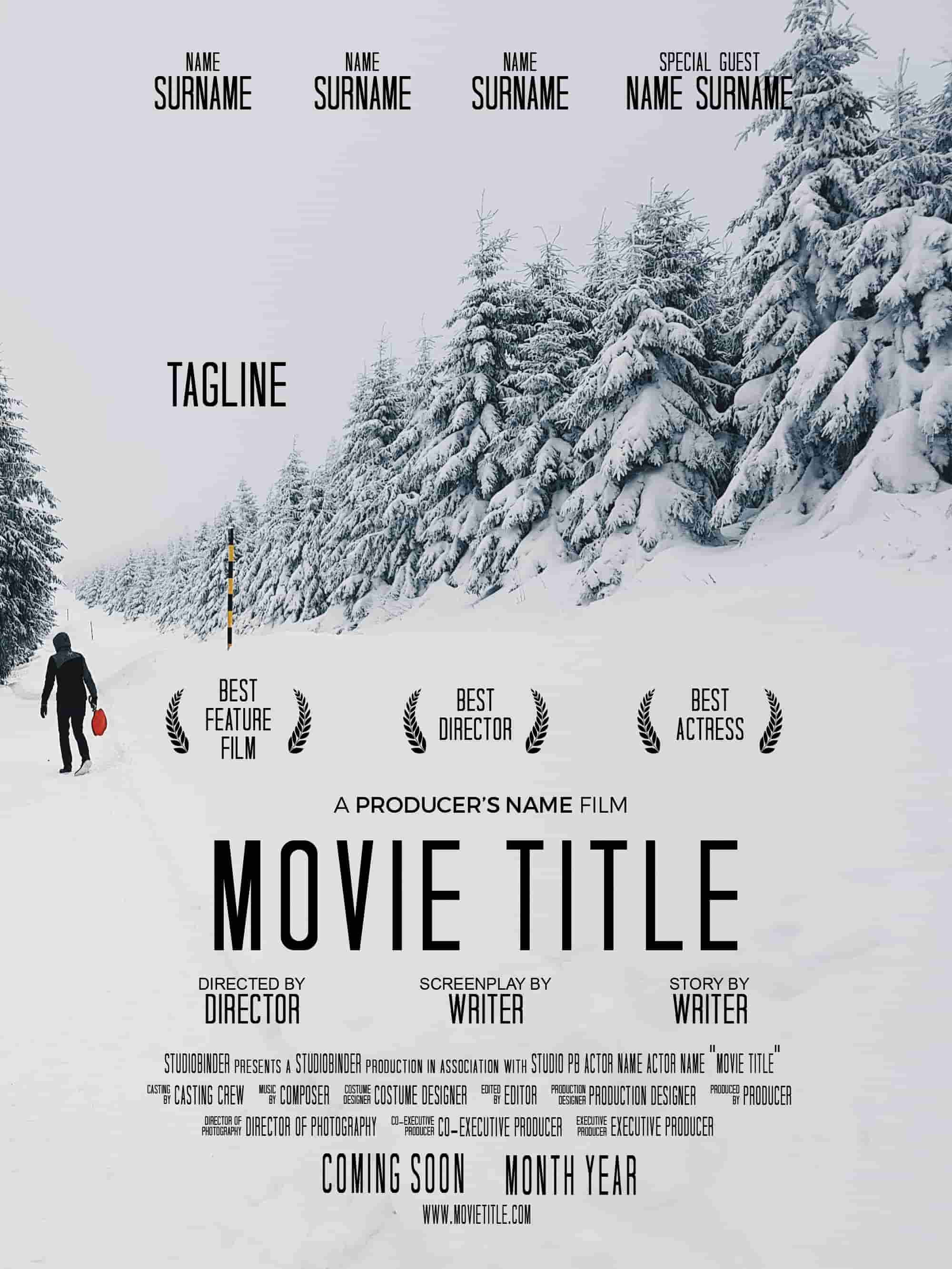 free movie poster credits template