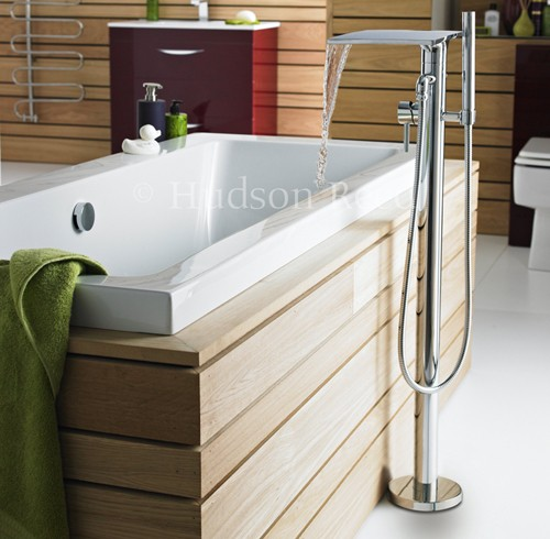 Waterfall Freestanding Bath Shower Mixer Tap Hudson Reed Tec U TFR362