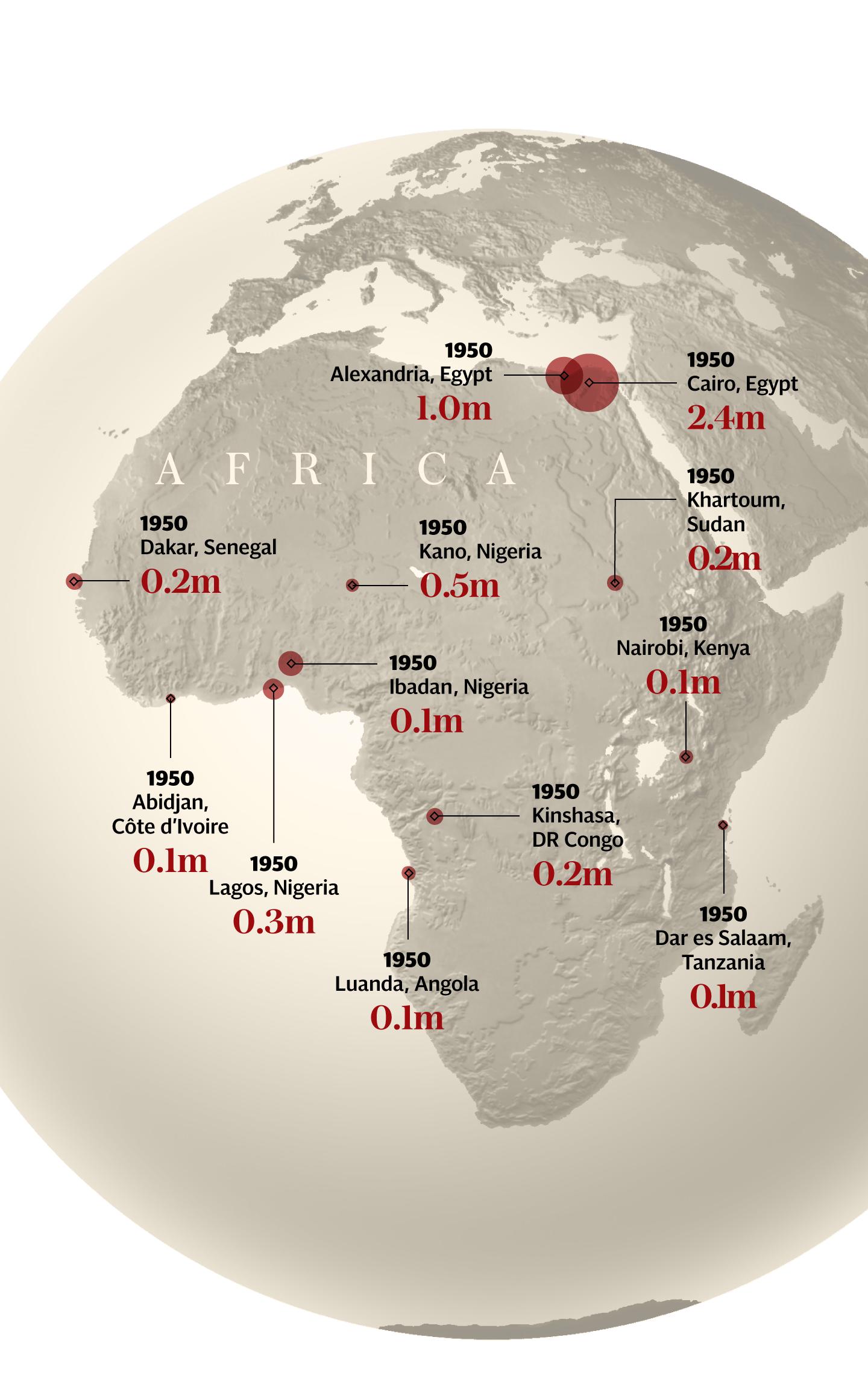 africa map 1950 mob vfzazpp i0u86ic - South Sudan, China launch campaign against HIV, AIDS