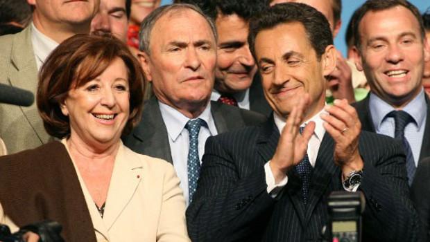 Marie-Josée Roig et Nicolas Sarkozy, en mai 2007.