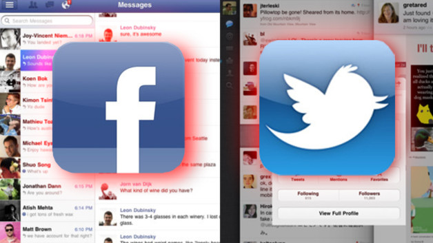Facebook/Twitter Facebook/Twitter Gratuit Androïd, BlackBerry, iPad, Iphone, WP7