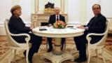Ukraine : Hollande et Merkel à Moscou pour présenter leur plan de paix à Poutine