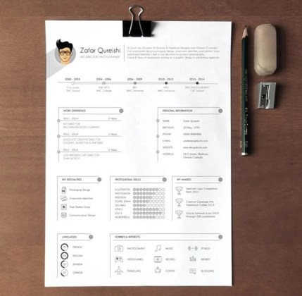 40 Best 2018 s Creative Resume CV Templates   Printable DOC creative free printable resume templates