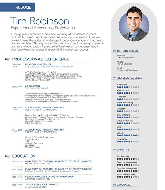 Unique Resume Templates Free Word Resume Sample