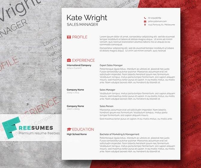 30 creative free printable resume templates to get a job