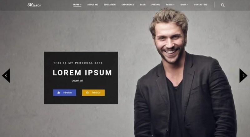 Max CV - Resume & Personal Portfolio WordPress Theme