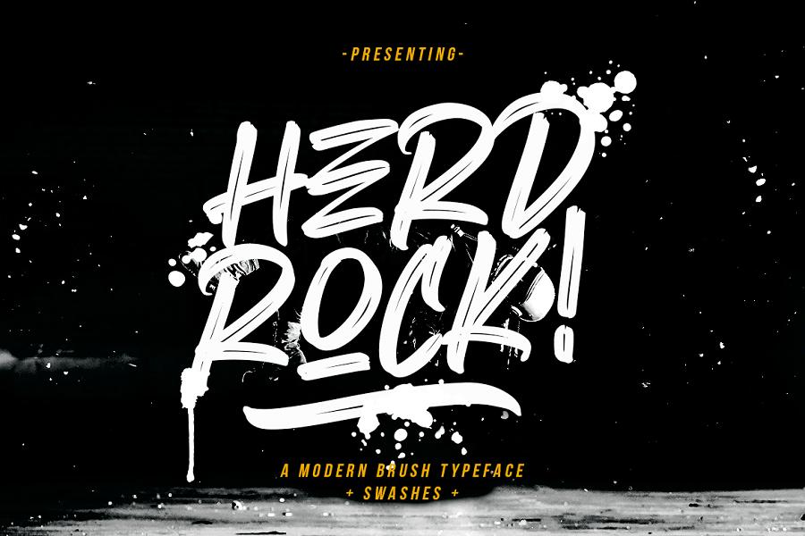 Herdrock Brush Typeface Font