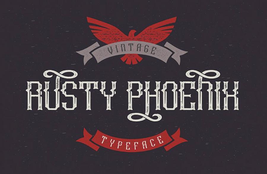 Rusty Phoenix Typeface Font