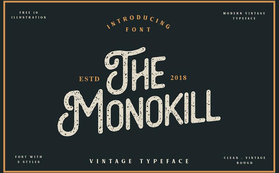 The Monokill - Vintage Font