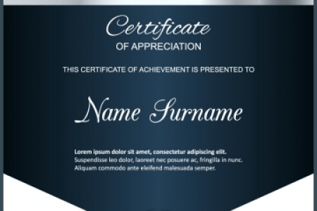 50 Multipurpose Certificate Templates and Award Designs For Business     Blue and silver certificate