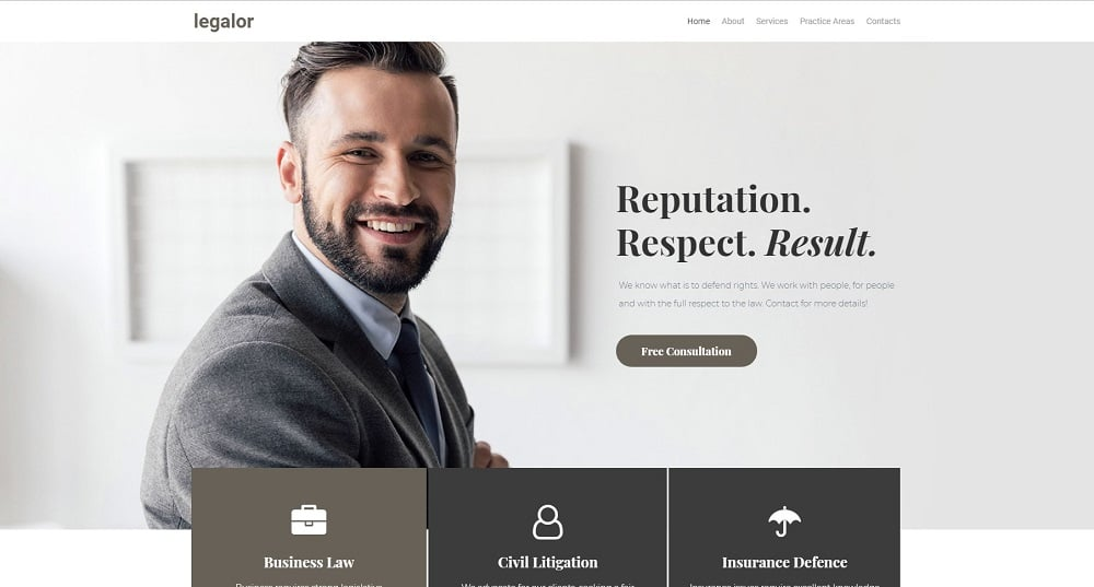 Justicon - Lawyer Elementor Jet Elementor Template