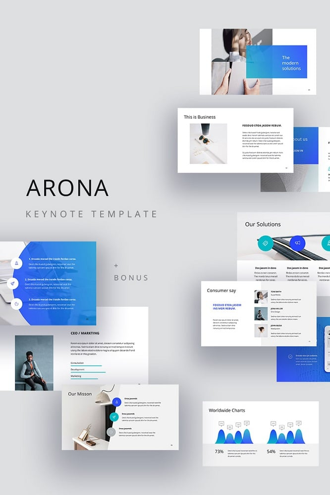 ARONA - Clean Keynote Template