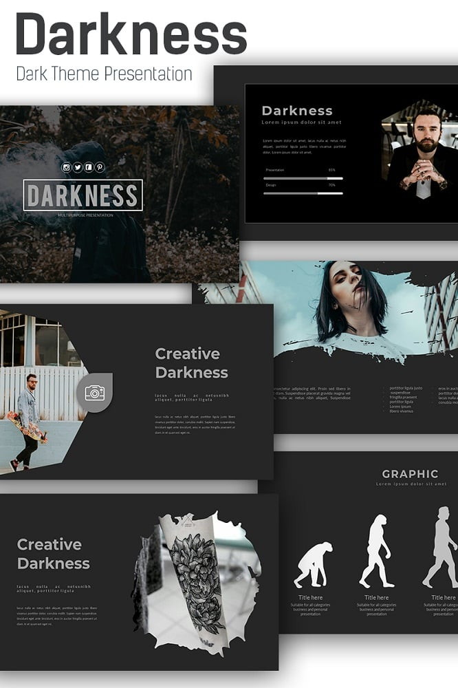 Darkness Keynote Template