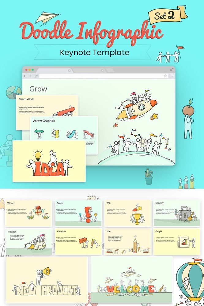 Doodle Infographic Keynote Template