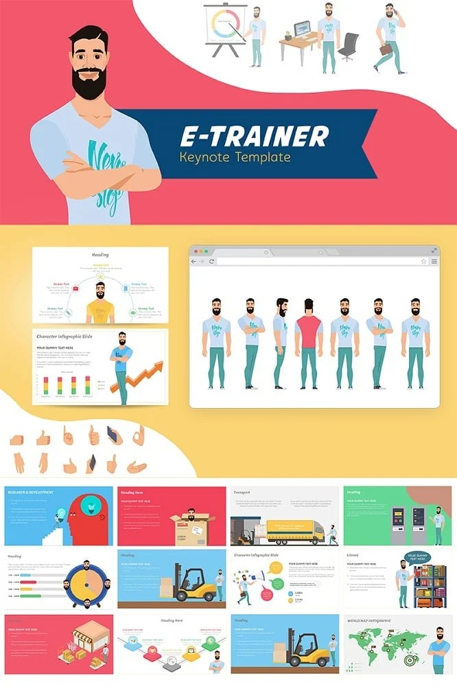 E-Trainer Keynote Template