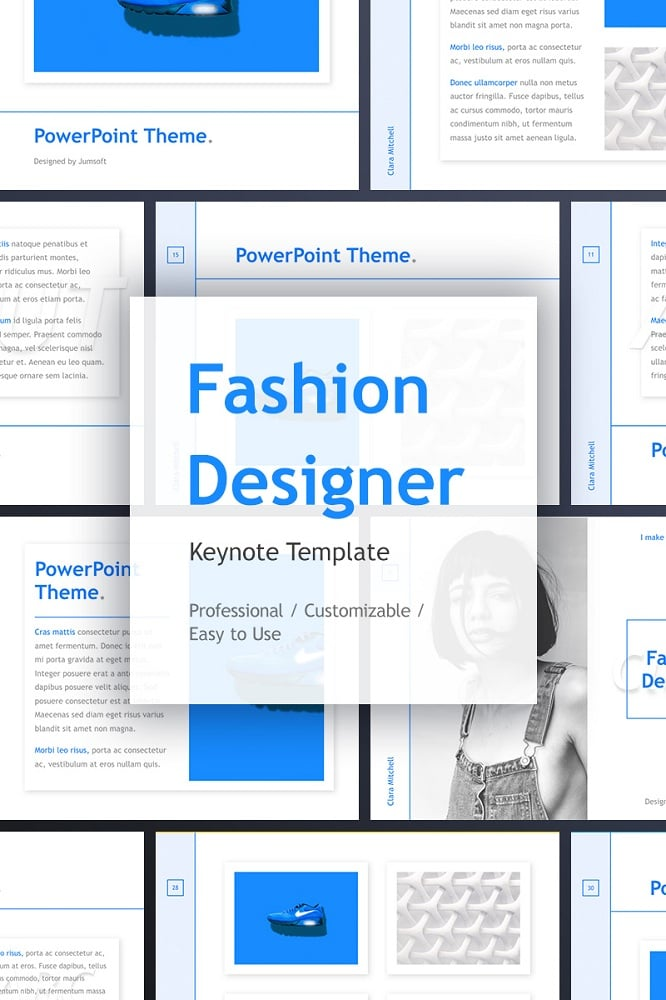 Fashion Designer Keynote Template