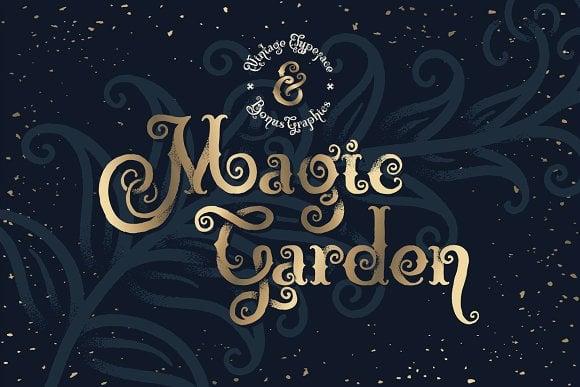 Magic Garden Font & Graphics Font