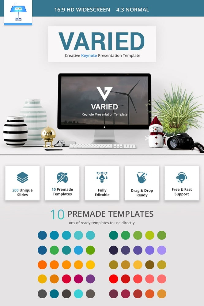 Varied Keynote Template