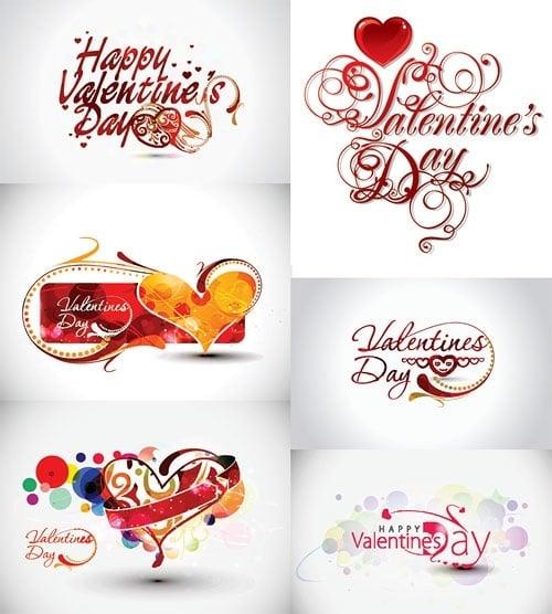 valentine day word theme