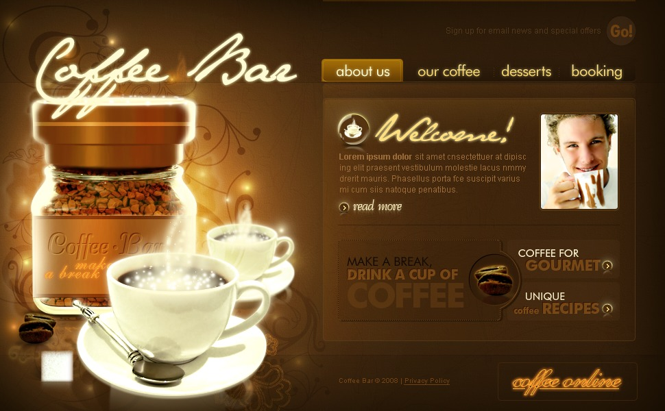 Coffee Shop Flash Template 19920