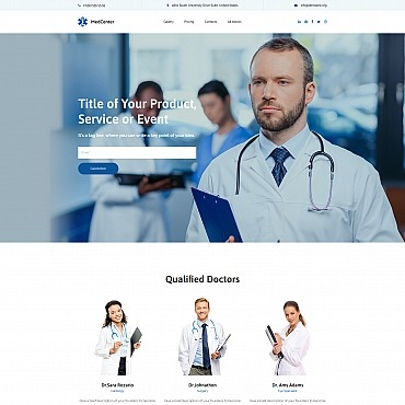 Medical Website Free WordPress Template Free Templates Online