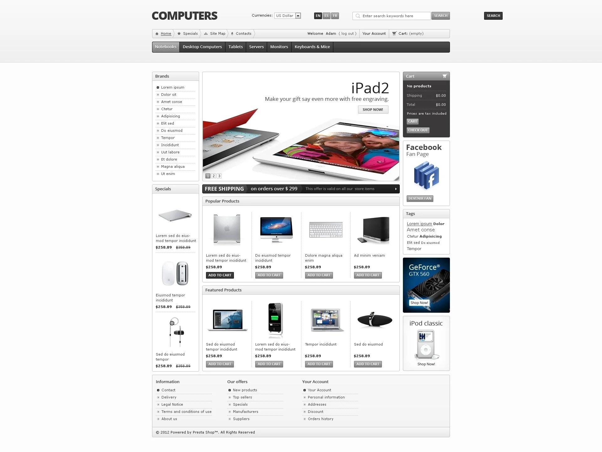 Computers Online Prestashop Theme