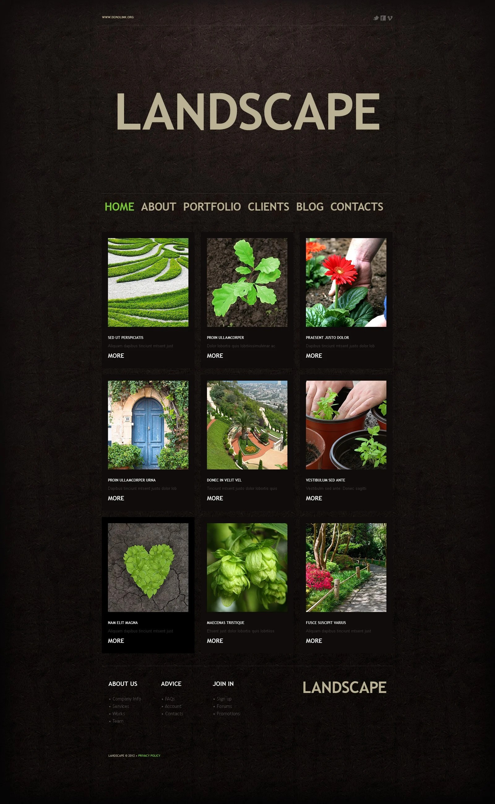 Landscape Design Wordpress Theme 37979