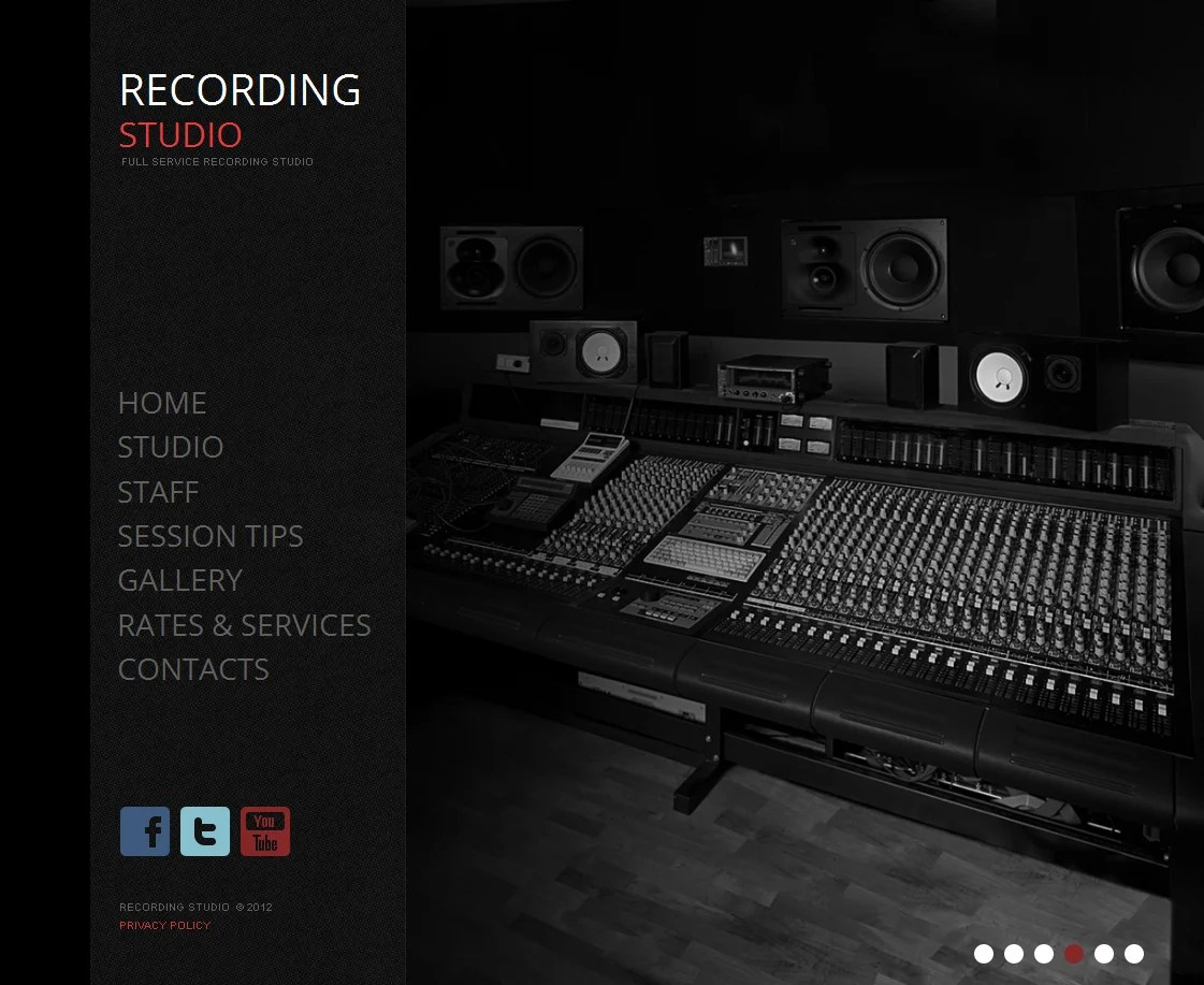 Recording Studio Moto Cms Html Template