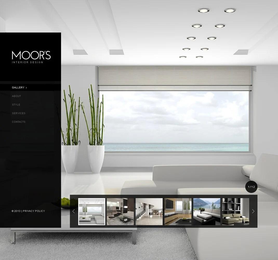 Interior Design Website Template 42345