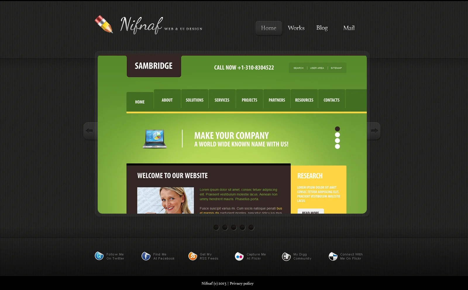 Simple Web Design Portfolio Joomla Template