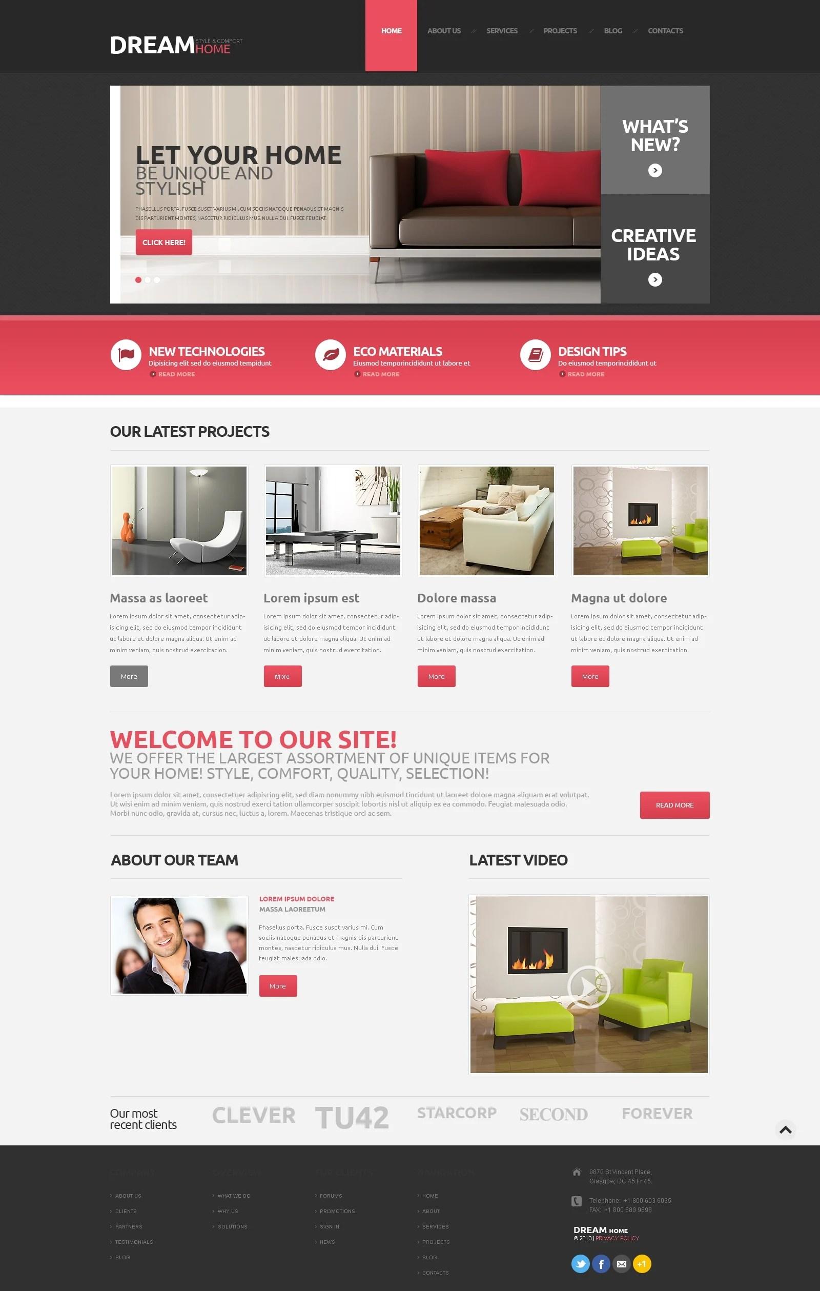 Home Decor Responsive WordPress Theme 48160