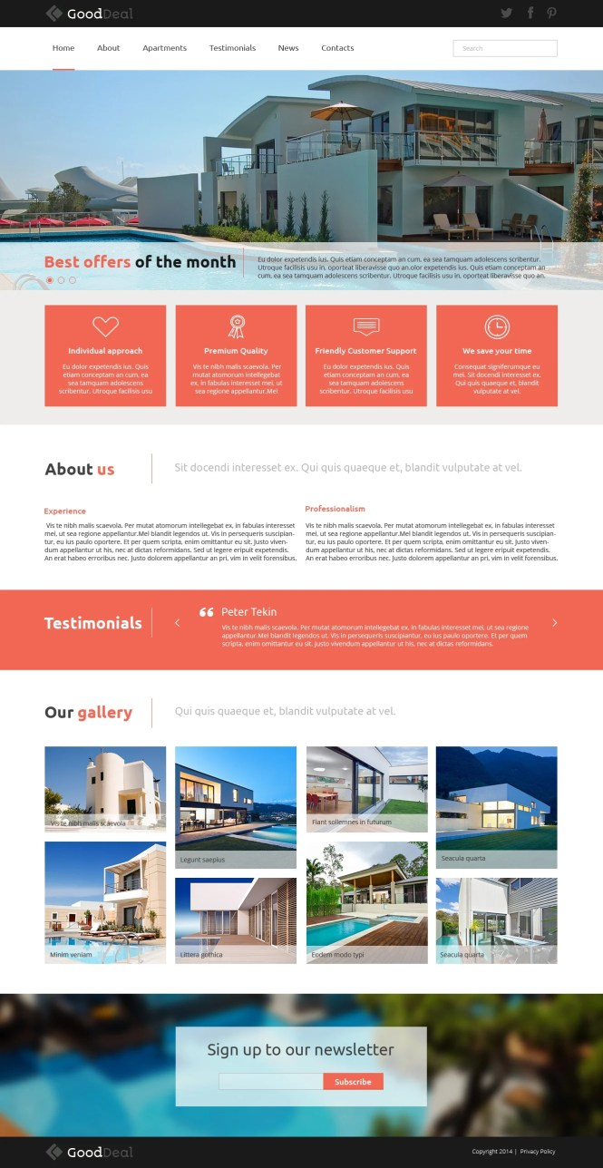 Apartments For Joomla Template