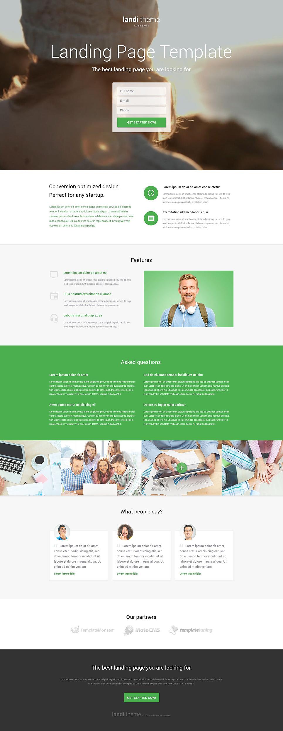 Web Development Responsive Landing Page Template 53378
