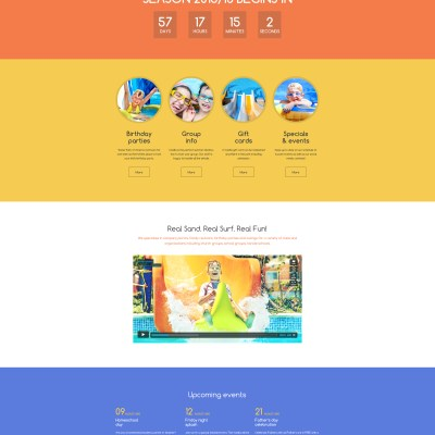Cartoon bootstrap template reviewwalls amut park responsive website template 48481 maxwellsz