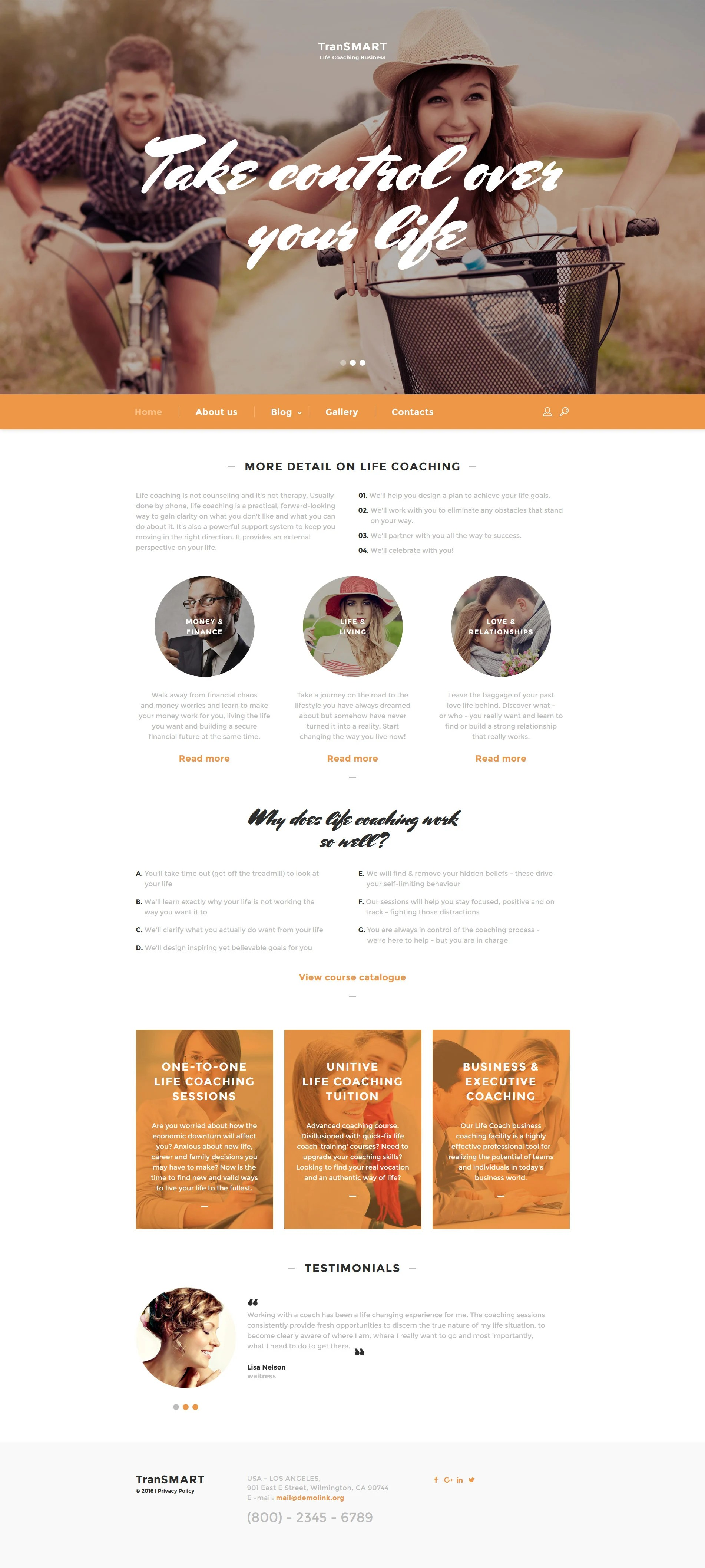 Life Coach Web Template