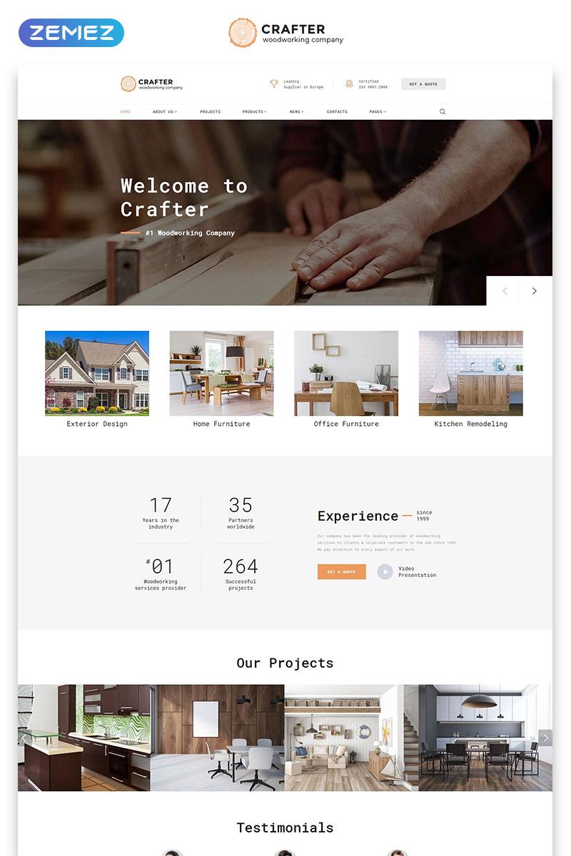 website vorlage namens woodworks zimmerei grosser screenshot