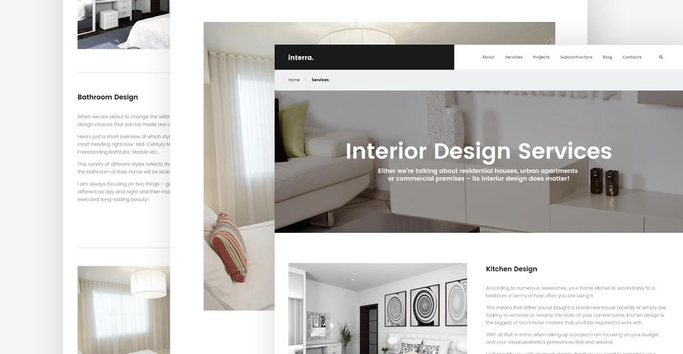 The Best Interior Design WordPress Theme